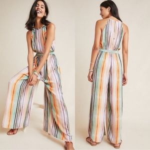 Anthropologie Bl-nk Gallery Row Jumpsuit Striped